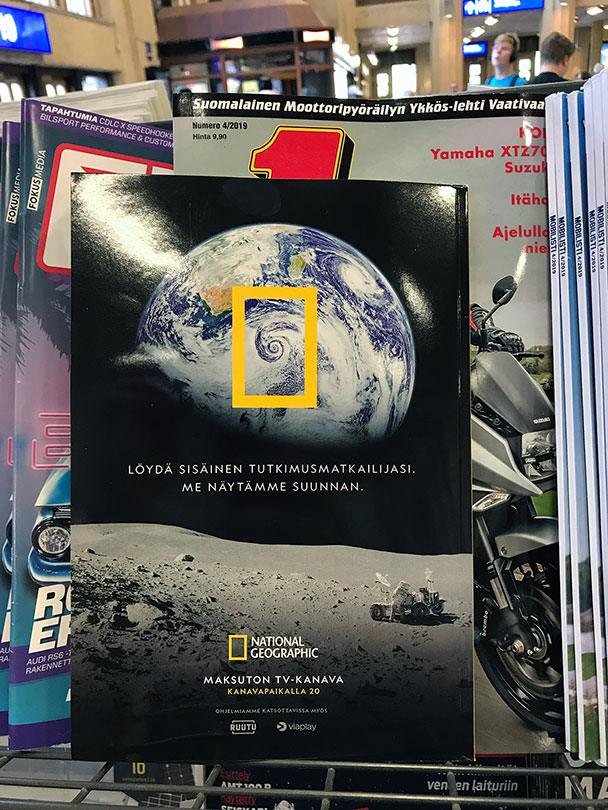 National Geographic magazine ad back cover